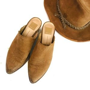Dolce vita leather western mules 7